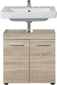 trendteam smart living badezimmer waschbeckenunterschrank unterschrank runner 58 x 57 x 31 cm front korpus eiche sägerau hell melamin mit viel