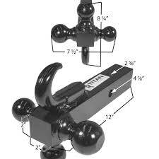 Titan Triple Ball Trailer Hitch For 2