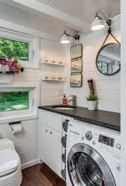 The Bathroom Also Includes Washer Dryer Tiny House