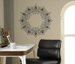 Wall Mural Decals Flowers by Mandala Wall Decal Abstract Flowers Vinyl Sticker Henna Flower