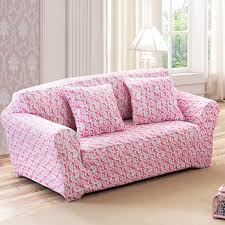 3 Seat Sofa Cover by Aliexpress Com Buy Sunnyrain Pink Heart Elastic Sofa Cover Sofa