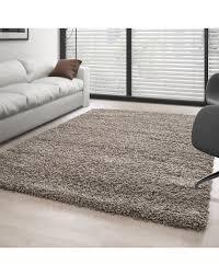 hochflor langflor wohnzimmer shaggy teppich florhöhe 3cm unifarbe taupe