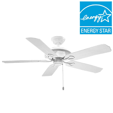 Flush Mount Ceiling Fans Home Depot by Hunter Mariner 52 In Indoor Outdoor White Ceiling Fan 59127 The