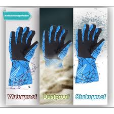 2017 wholesale snow gloves ski waterproof microwave heated ski