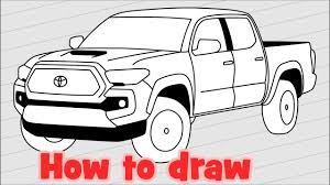 How To Draw A Car Toyota Tacoma 2018 Pickup Truck - YouTube How To Draw An F150 Ford Pickup Truck Step 11 Work Pinterest How To Draw A Monster Truck Step By Drawn Grave Digger Outline Drawing Mack At Getdrawingscom Free For Personal Use Jacked Up Chevy Trucks Drawings A Silverado Drawingforallnet Fpencil Ambulance Kids By Cement Art Projects Kids The Images Collection Of Vector Pinart Dump Semi Scania Pencil And In Color Drawn Cool Awesome Youtube Garbage Download Clip
