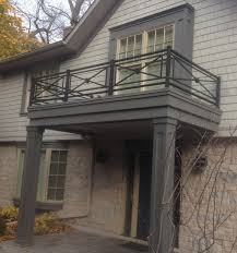 Simple Design Of House Balcony Ideas by Outdoor Black Iron Balcony Railing In Crisscross Design Also White