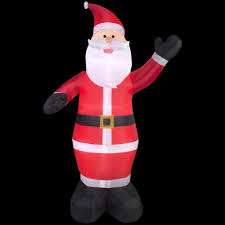 Gemmy Inflatable Halloween Train by Home Accents Holiday 19 Ft Inflatable Airblown Santa On Airplane