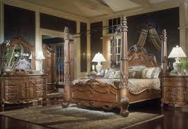 Tips On Choosing The Right Bedroom Furniture Sets Traditional Design With Brown Wooden Canopy