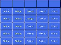 Blank Jeopardy Template Maker Easy 7 Templates Sample Best