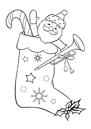 Free Online Christmas Stocking Colouring Page