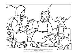 Mws L1 Coloring Page Jesus And The Woman At Well