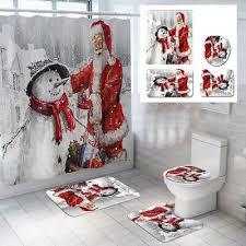 180 180cm weihnachten dekoration duschvorhang weihnachtsmann