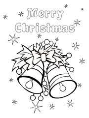 Merry Christmas Coloring Card 7