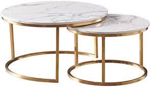 couchtisch rund marmor couchtisch beistelltisch modern 2er