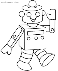 Online For Kid Robot Coloring Page 25 Free Book With