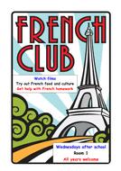 French Club Poster By Ddobinson