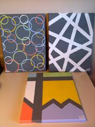 DIY Canvas Painting Tape Paint Cups