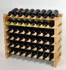 Amazon Wine Rack Wood 48 Bottles Modular Hardwood Wine Racks