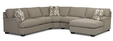 klaussner killian traditional four seater sectional sofa with