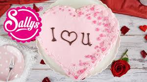 herztorte ohne werkzeug valentinstag muttertag sallys welt