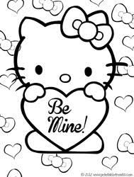 Best Ideas Of Hello Kitty Valentine Coloring Pages In Cover