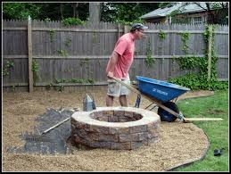 Homeroad: Building A Fire Pit Fire Up Your Fall How To Build A Pit In Yard Rivers Ground Ideas Hgtv Creatively Luxurious Diy Project Here To Enhance Best Of Dig A Backyard Architecturenice Building Stacked Stone The Village Howtos Make Own In 4 Easy Steps Beautiful Mess Pits 6 Digging Excavator Awesome