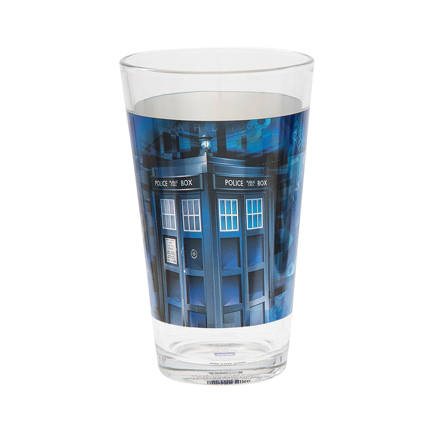 Doctor Who 16 oz Laser Decal Glass Set of 2