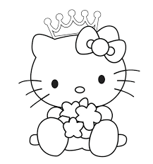 Surprising Princess Coloring Sheets Print Pages Best Hello Kitty Free Printable Page Belle Kids