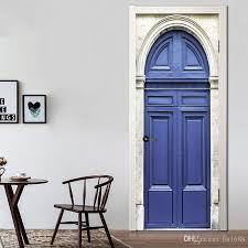 großhandel 3d effekt eisen polizei büro tür aufkleber tapete kinder schlafzimmer tür aufkleber wohnzimmer glas home mural decor kreative vinyl