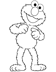 Cute Elmo Coloring Page