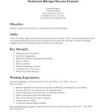 Server Skills Resume Sample Example Of A Template Serving Examples With Photos Job