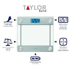 Bed Bath And Beyond Talking Bathroom Scales by Taylor 7519 Ultra Thick Digital Glass Bathroom Scale With Backlit