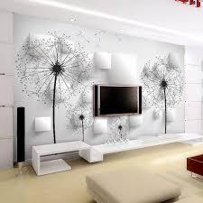 Elegante Papel Tapiz De Diente Len 3D Foto Wallpaper Paisaje Natural Mural Art Room Decor