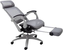 Elastic All-Mesh Reclining Office Chair W/Adjustable Sliding Seat Depth &  Footrest Forget Standing Desks Are You Ready To Lie Down And Work Ekolsund Recliner Gunnared Dark Grey Buy Now Artiss Massage Office Chair Gaming Computer Chairs Khaki Executive Adjustable Recling With Incremental Footrest 1000 Images About Fniture On Pinterest Best In 20 The Gadget Reviews Amazoncom Chairsoffce Offce 7 With 2019 Review 10 1 Model Desk Lafer Josh Offex Ofbt70172whgg High Back Leather White
