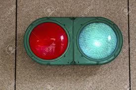 traffic light on garage wall stock photo picture and royalty free