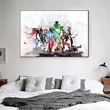 taoyuemaoyi aquarell marvel poster superhelden iron thor wandbilder wohnzimmer dekoration kinder wandkunst abstrakte wohnkultur 40 60 cm