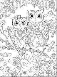 Picture Coloring Complex Owl Pages At Printable Adult Anti Stress Images Enjoy