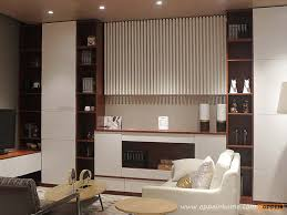 White And Dark Wood Grain Display Cabinet ZS0451615