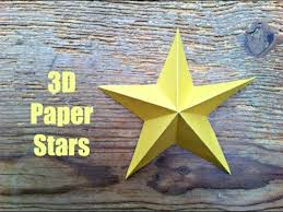 CHRISTMAS CRAFTS Simple 3D Paper Stars