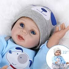 22 Handmade Lifelike Newborn Silicone Vinyl Reborn Baby Doll Full