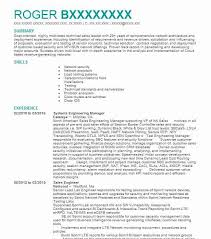Systems Engineering Manager Resume Sample