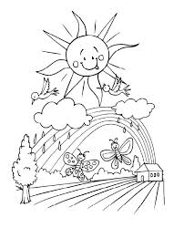 Spring Coloring Pages At All Kids Network