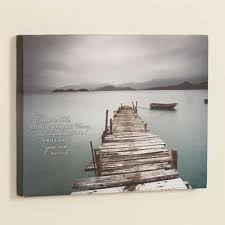 Desolate Pier Wrapped Canvas Print ChristianGiftsPlace Online Store
