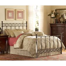 Wesley Allen King Size Headboards by Lucinda Iron Bed In Marbled Russet Humble Abode