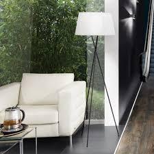 s luce angela stehleuchte 168cm dreifuss wohnzimmer stehle schwarz weiß 2 teilig