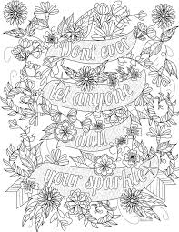 Quote Coloring Pages The Awesome Web Inspirational For Adults