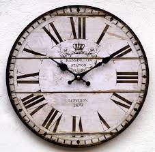 lb h f lilienburg wanduhr holz wohnzimmer küchenuhr vintage weiß schwarz antik lautlos ohne ticken k
