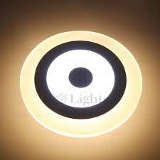 chic target shaped circle acrylic shade wall mounted led lights