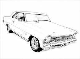 Muscle Car Coloring Pages Panda