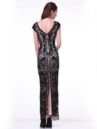 cap sleeve v neck long lace dress by cinderella divine 1937 u2013 abc